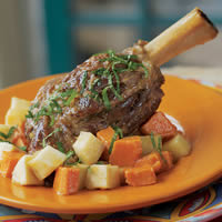 Braised Curried Lamb Shank with Yucca: Main Image