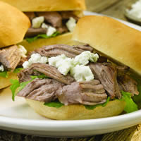 Braised Lamb and Goat Cheese Sliders: Main Image