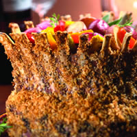 Festive Lamb Crown Roast with Oven Roasted Vegetables: Main Image