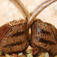 Lamb Chops with Artichoke Tapenade: Main Image