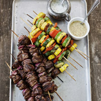 Grilled Lamb and Vegetable Kabobs: Main Image