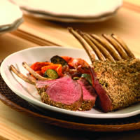 Hazelnut Crusted Rack of Lamb: Main Image