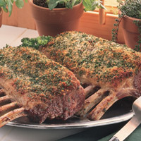 Herb-Crusted Racks of Lamb: Main Image