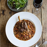 Braised Lamb Shanks with White Beans and Tomatoes: Main Image