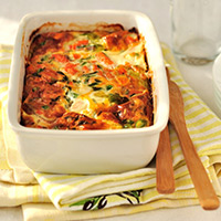 Lamb Loin Chops with Potato and Swiss Chard Gratin: Main Image