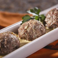 Lamb Meatballs with Saffron-Almond Sauce: Main Image