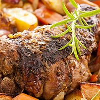 Lamb Roast with Glazed Vegetables: Main Image