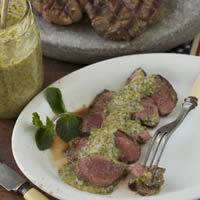 Lamb Sirloin with Stockyards-style Garlic Mint Marinade: Main Image