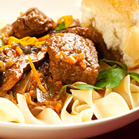 Lamb and Vegetable Pasta: Main Image
