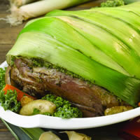 Leg of Lamb Wrapped in Leeks: Main Image