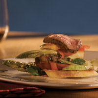 Lemon-Herb Rubbed Butterflied Leg of Lamb Bread Salad: Main Image