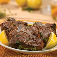 Loin Chops with Lemon Honey Thyme Marinade: Main Image