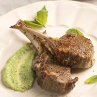 Mint Chimichurri Marinated Lamb Chops: Main Image
