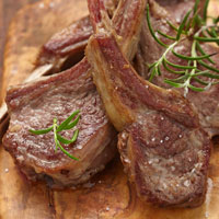 Rosemary Rack of Lamb with Oven-Dried Tomatoes and Black Olives: Main Image