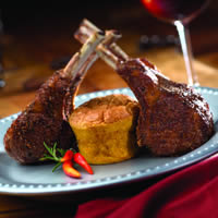 Seared Lamb Chops with Goat Cheese Soufflé: Main Image