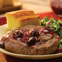 Shoulder Chops with Chipotle Cherry Sauce: Main Image