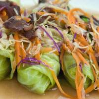 Spicy Lemongrass-Lamb Lettuce Wraps: Main Image