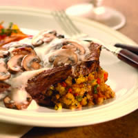 Stuffed Lamb Shoulder Chops with Fresh Mushroom Sauce: Main Image
