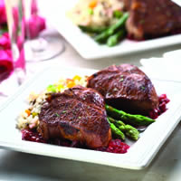 Table for Two Lamb Loin Chops with Madeira and Cherries: Main Image