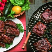 Tangy Barbecued Lamb Riblets: Main Image
