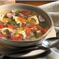 Tortellini and Lamb Country Soup: Main Image