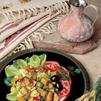 Warm Moroccan Potato Lamb Salad: Main Image