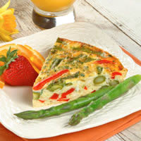 master.k.m.us.Asparagus Frittata with Red Bell Peppers Mushroom & Asparagus Noodle Bowl