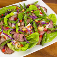 master.k.m.us.Asparagus Salad with Thai Grilled Lamb Gluten Free
