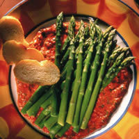 Asparagus Tapas with Red Pepper Sauce: Main Image