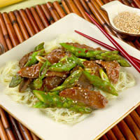 Asparagus and Lamb Stir Fry: Main Image