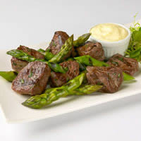 Grilled Asparagus and Lamb with Mustard Aioli: Main Image