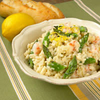 master.k.m.us.Asparagus and Rock Shrimp Risotto Healthy Eating