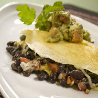 Black Bean Omelet with Avocado Salsa Verde: Main Image