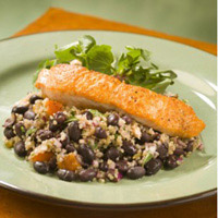 Roasted Salmon with Black Bean-Quinoa Salad: Main Image