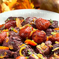 Braised Lamb with Black Mission Figs: Main Image