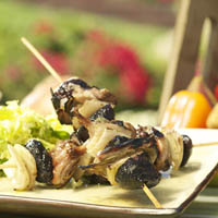 Brochette of Quail and California Mission Figs with Winter Green Salad: Main Image
