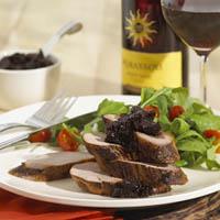 Maple-Rosemary Brined Pork with Fig Chutney: Main Image