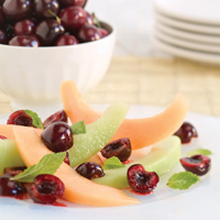 Fresh Bing Cherry Salad with Melon and Mint: Main Image