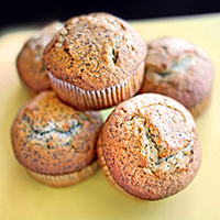 Almond Poppy Seed Muffins: Main Image