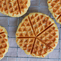 Butter Pecan Banana Waffles: Main Image