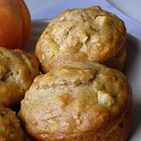 Peach Oatmeal Muffins: Main Image