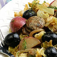 Alsatian Braised Turkey Sausage: Main Image