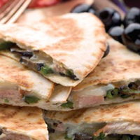 Charred Poblano Pork Quesadillas: Main Image
