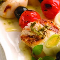 Grilled Scallop Skewers: Main Image