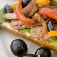 Olive Pip�rade Steak Tartine: Main Image
