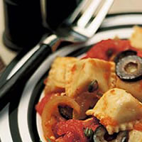Ravioli with Fire-Roasted Tomatoes and Olives: Main Image