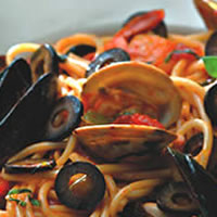 Spicy Olive and Seafood Spaghetti: Main Image