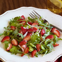 Strawberry and Fava Bean Salad with Pecorino: Main Image