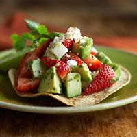 Strawberry Tostada: Main Image