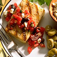 Cod Fillets with Greek Salsa: Main Image